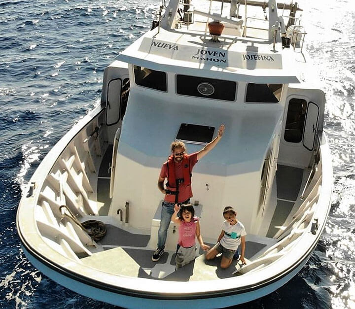 www.fishingtripmenorca.co.uk boat trips fishing at Menorca with Josefina
